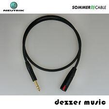 10m Kopfhörer Verlängerungskabel Albedo schwarz Sommer Cable/6,3mm/10,0 High End