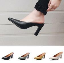 Fashion High Heels Stilettos Damenschuhe Pumps 44/45/46 Pantoletten Eckig Neu D