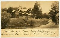 Postcard Lake Placid Club NY Eastrock Cottage View Dirt Road New York Sepia 1910