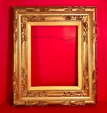 Hand Carved and Gilded Wooden Picture Frame for Artwork or Mirror 22 in.x 19 in.