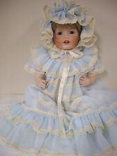 "J D K - Porcelain  Reproduction  14 1/2"" inch Doll"