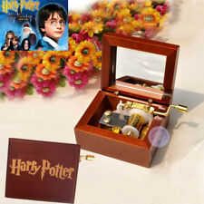 "Play HARRY POTTER ""Hedwig's Theme"" Hand Crank Sankyo Music Box With Laser Mark"