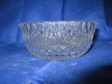 "VINTAGE GLASS DIAMOND POINT SALAD BOWL SERVING 4.5""DIA SUNBURST SAWTOOTH EDGE EC"