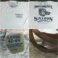 True Vintage 70s Hogs Breath Saloon Fort Walton Beach Harley Davidson T-Shirt L