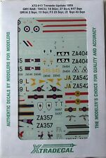 Xtradecal 1/72 X72013 RAF Tornado Update 1989 Decal set