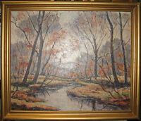 William Fisher Vintage Impressionist Maine Landscape Listed Kennebunkport Artist