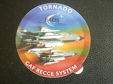 AUTOCOLLANT STICKER EADS PANAVIA TORNADO FIGHTER LUFTWAFFE GAF RECCE SYSTEM