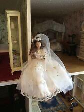 "Collectible Doll Sz 5 1/2 "" Porcelain Bride Doll ""Henrietta"" Doll House Emporium"