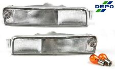 Clear Bumper Signal Lights PAIR Fits 96-98 Nissan Pathfinder