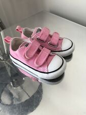 Converse All Star Trainers Sz 6 U.K. Infant Pink Low Top Good Condition