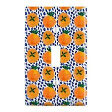 Citrus and Blue Dots Plastic Wall Decor Toggle Light Switch Plate Cover