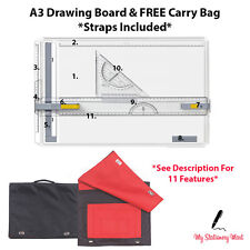 A3 Drawing Board Architects T Square Parallel Motion Triangle FREE BOARD BAG!!
