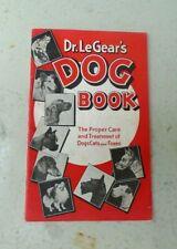 Vintage Dr. LeGear's DOG Book Pet Medicine RED Advertising