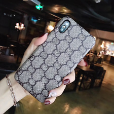 Cover For iPhone Leather Case Label Fashion Back Cover iPhone X XS XR 11 Pro Max