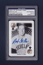 Bob Feller signed Cleveland Indians 2000 All Century Team Playing card Psa