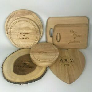 Personalised Engraved Wooden Cheeseboard Wood Chopping Cutting Board Serving Set