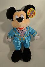 "15"" Mickey Mouse in Blue Tuxedo Suit Plush Stuffed Figure Disney World On Ice"