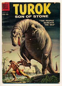 Dell Comics Turok Son of Stone Issue #15 Comic Book 3.5 VG- 1959 Dinosaur
