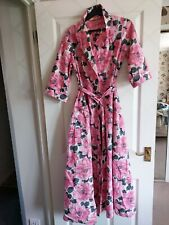 Vintage Tootal Pink Floral Housegown Hoiuse Gown Size Sw ( Tall and Slim)