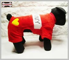 Hundeoverall Anzug Pullover Welpe Mantel Weste Chihuahua S M L XL Rot