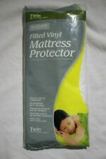 Twin Fitted Vinyl Mattress Protector Waterproof Non Allergenic Stain Proof
