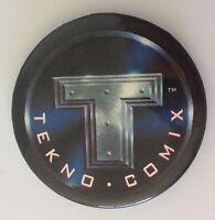 Tekno Comix Cartoon Retro Button Badge Pin Vintage Authentic (N13)