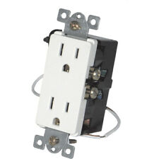 Simply Automated Upb Split Duplex Wall Receptacle, White (Urd-30-W)