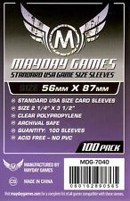 Mayday Games Standard USA Game Purple label Card Sleeves(56mm X 87mm)(100) 7040