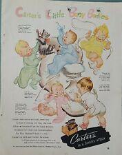 1951 Carter's girls boys little busy bodies underwear pajamas vintage ad