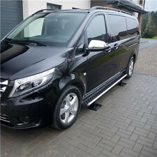 VOLKSWAGEN T5 03-15, MARCHE-PIEDS ALUMINIUM NOIR, ANTIDERAPANT, CHASSIS LONG