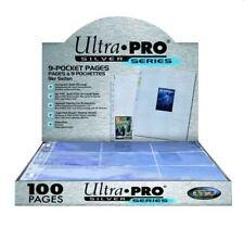 (100) Ultra Pro 9-Pocket Baseball Card Pages Album Sheets Full Display Box