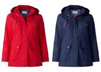 Sheego Damen Parka mit Kapuze Jacke Mantel Rot Blau Red Blue Herbst Warm NEU