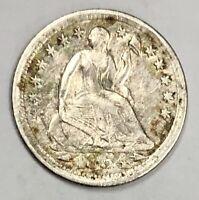 1854 Liberty Seated Half Dime 5c Very Fine