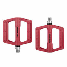 """RockBros Bike Bicycle Bearing Pedal Cycling Nylon Pedals 9/16 """" a Pair Red"""