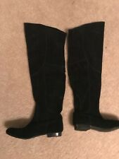 WHITE MOUNTAIN TallShip OTK Knee BOOTS Womens size 6.5 Black Suede