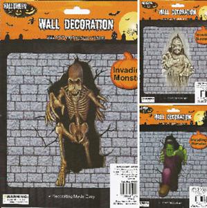 HALLOWEEN Monster Mummy Skeleton Frankenstein Wall Decoration 44.5cm x 104cm