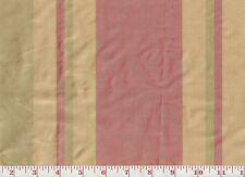 100% Silk Clarence House Stripe Drapery Fabric R$218y Rayure Royale ~ Vert Rouge