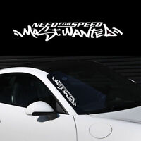 1pc White Need For Speed Windshield Decal Vinyl Car Auto Window Exterior Sticker
