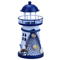 Flash Ocean Iron Crafts Iron Lighthouse Desktop Ornaments Mediterranean S A7S4