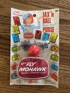 VINTAGE JAX N BALL WITH FLY MOHAWK AIRLINE BAG CHEM TOY 1965 LITTLE STEWARDESS