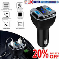 2 iN 1 UNiVERSAL DUAL USB 12-24V BLACK BEST CAR CHARGER GPS Tracker Locator