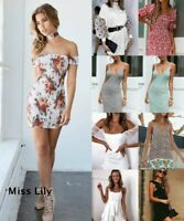 Womens Loose comfy Short UK Tops Home Party Holiday Holiday Baggy Mini Dresses