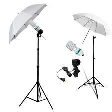 New Studio Photography Lighting Kit 3 Point Lighting Umbrella Photo Bulb LaFh