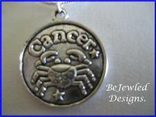 Zodiac Charm Pendant Necklace ~ Cancer~