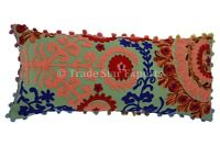Indian Suzani Embroidered Pillow Cover Boho Throw Cushion Cover Sofa Cushions