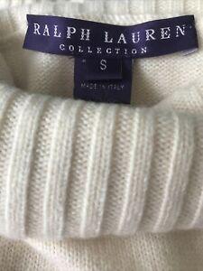 "Ralph Lauren ""purple label"" cashmere sleeveless turtleneck EUC Small"