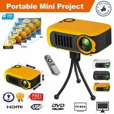 Portable 3D HD Home Theater Movie Projector Video 1080P HDMI USB SD Card Laptops
