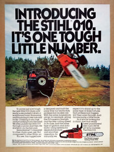 1980 Stihl 010 Chain Saw vintage print Ad