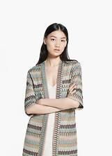 Woman multicolor long  caftan,cardigan size M UK 10 new,mango
