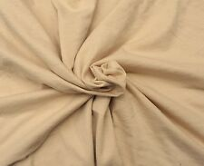 "Beige Bamboo Cotton Fabric Jersey Knit by the Yard 72""W 5/16"